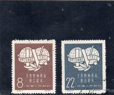 CHINE 1957 O - Gebruikt