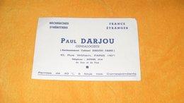 BUVARD ANCIEN PAUL DARJOU GENEALOGISTE PARIS 16e...RECHERCHES D'HERITIERS... - Buvards, Protège-cahiers Illustrés