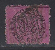 Etats Pontificaux 1868 Yvert 23 (o) B Oblitere(s) - Kerkelijke Staten
