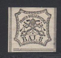 Etats Pontificaux 1852 Yvert 9 * TB Charniere(s) - Etats Pontificaux
