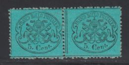 Etats Pontificaux 1868 Yvert 21 * TB Charniere(s) Paire - Kerkelijke Staten