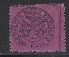 Etats Pontificaux 1868 Yvert 23 * B Charniere(s) - Kerkelijke Staten