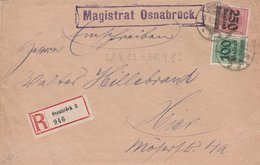 Allemagne Lettre Recommandée Inflation Osnabrück 1923 - Germany