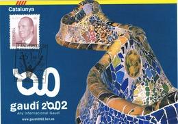 33613. Tarjeta BARCELONA 2002. 10 Aniversario Juegos Olimpicos. GAUDI 2002 - 1931-Hoy: 2ª República - ... Juan Carlos I