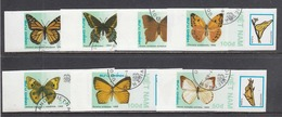 Vietnam 1989 - Papillons, Non Dent., Obliteres - Vietnam