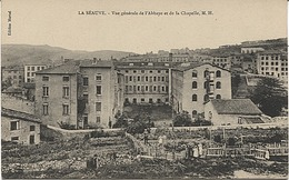 X121897 HAUTE LOIRE LA SEAUVE VUE GENERALE DE L' ABBAYE ET DE LA CHAPELLE - France