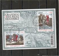 FRANCE   Feuillet 2 Timbres 1,35 €     2012   Y&T: F4704   Les Grandes Heures De L'Histoire De France    Oblitéré - Sheetlets
