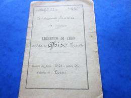 1897-24é REGGIMENTO FANTERIA 4é COMPAGNIA LIBRETTO DI TIRO FUCILE 7641-Militaria Document Militaire Ghiso Lorenzo ITALIE - Documenti