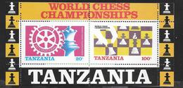 TANZANIA - CAMPIONATO MONDIALE SCACCHI - ROTARY - 1994 - FOGLIETTO NUOVO ** (YVERT BF 44 - MICHEL  BL 54) - Scacchi