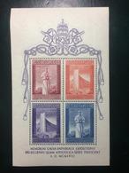 1958 VATICANO FOGLIETTO BRUXELLES - Blocchi E Foglietti