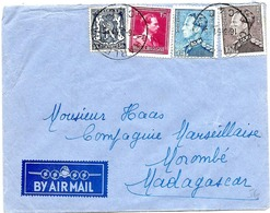 LE 0061 - N° 426-434B-832-833 CHARLEROI 16.3.51 S/L. AVION V. MOROMBE (MADAGASCAR). Affr. 16,25 F Quadricolore; TB - 1936-1951 Poortman