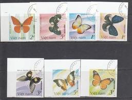 Vietnam 1987 - Papillons, Non Denteles, Obliteres - Vietnam