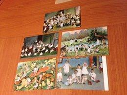 ENFANTS ET BEBES - 5 Cartes Humoristiques (port à Ma Charge ) - Tarjetas Humorísticas