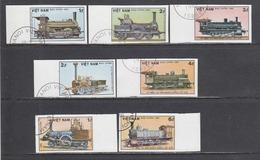 Vietnam 1985 - Trains, Imperforated, Canceled - Vietnam