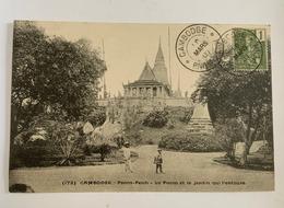 Cambodge - Pnom-Penh - Le Pnom Et Le Jardin Qui L'entoure - Cambodia
