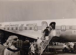 AEROPLANO-AIRPLANE-AVION-FLUGZEUG-=AERONAVES DE MEXICO-CARTOLINA VERA FOTOGRAFIA NON VIAGGIATA -ANNO 1955-960 - 1946-....: Era Moderna