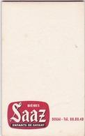 """Carnet Commandes De Bistrots - Brasserie Des Enfants De Gayant Douai Nord - Bière """" SAAZ """" - Autres Collections"""