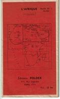 CARTE FOLDEX  L'AFRIQUE Feuille N°1 Nord-Est  ( Les Années 1940 Environ )  Pas Courant   -  VOIR SCANS - Geographical Maps