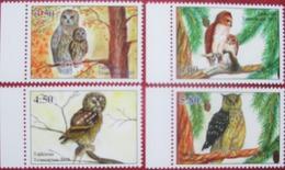 Tajikistan  2019  Owls  Eulen  4 V   Perfor.   MNH - Hiboux & Chouettes