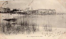 AVIGNON SOUS LA NEIGE (CARTE PRECURSEUR ) - Avignon