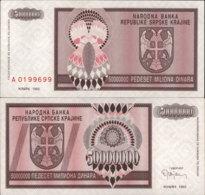 CROATIA-SRPSKA KRAJINA 50 MILLION DINARA 1993 - Croacia