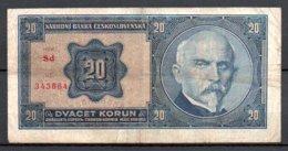 329-Tchécoslovaquie Billet De 20 Korun 1926 Sd343 - Checoslovaquia
