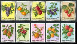 Saint-Marin 1973 Yvert 837 / 846 ** TB - Unused Stamps