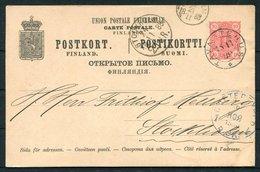1888 Finland Stationery Postcard.Tavastehus, St Petersburg, Stockholm - Covers & Documents