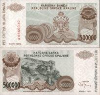 CROATIA-SRPSKA KRAJINA 500 000 DINARA 1993 - Croacia