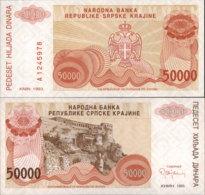 CROATIA-SRPSKA KRAJINA 50 000 DINARA 1993 - Croacia