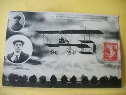 4J 3728 CPA AVIATION 1911 - 91 ETAMPES. AERODROME DE LA BEAUCE. BIPLAN  H. FARMAN EN PLEIN VOL. BILLE ET GOUGUENHEIM - Aviateurs