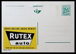BELGIQUE ENTIER CP PUBLIBEL N° 2381 N . RUTEX AUTO .  NEUF - Stamped Stationery