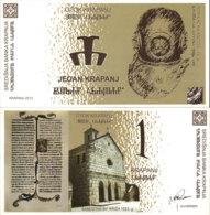 CROATIA 1 KRAPANJ 2013-SOUVENIR BANKNOTE - Croazia