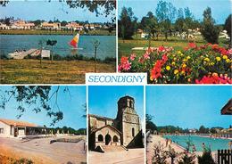 Dép 79 - Secondigny - Multivues - Eglise - Camping Du Moulin Des Effres - Auberge Du Lac - Plan D'eau -La Piscine Géante - Secondigny