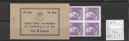 1939 MNH Booklet Sweden Facit H39-cc - Boekjes