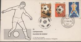 3424   Carta  Sao Paulo 1978, Campeonato  Mundial De Futebol, Fútbol, - Brasile