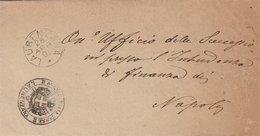 Laurenzana. 1891. Annullo Grande Cerchio LAURENZANA  + Bollo AGENZIA DELLE TASSE,  Su Franchigia Senza Testo - Marcofilie