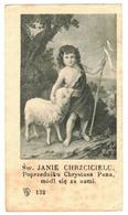 SW JANIE CHRZCICIELU IMAGE PIEUSE RELIGIEUSE HOLY CARD SANTINI HEILIG PRENTJE HEILIG - Santini