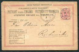 1885 Finland Stationery Postcard. Lempois. Railway Jernsvagens TPO - 1856-1917 Amministrazione Russa