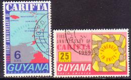 GUYANA 1969 SG 500-01 Compl.set Used CARIFTA - Guyana (1966-...)