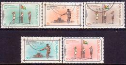 GUYANA 1969 SG 504-08 Compl.set Used Caribbean Scout Jamboree - Guyana (1966-...)