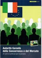 ITALIA 2010 - FOLDER  AUTORITA' GARANTE DELLA CONCORRENZA E DEL MERCATO -  SENZA SPESE POSTALI - 6. 1946-.. Republic