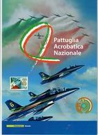 """ITALIA 2010 - FOLDER  PATTUGLIA ACROBATICA NAZIONALE """"FRECCE TRICOLORI"""" -  SENZA SPESE POSTALI - 6. 1946-.. Republic"""
