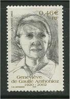 2003 Yt 3544 (o) Geneviève De Gaulle Anthonioz - France