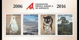 Monaco 3047/50 Fondation Prince Albert II, Ours Polaire, Tigre, Forêt, Pole - Postzegels