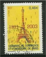 2003 Yt 3545 (o) Chambre De Commerce Et D'Industrie De Paris - France