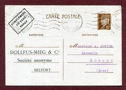"""Pe A 3 : """" DOLLFUS-MIEG & Cie """" à BELFORT (1942) - Entiers Postaux"""