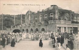 22 Perros Guirec Une Fete De Fleurs Au Casino Cpa Carte Animée Cachet Hexagonal 1925 - Perros-Guirec