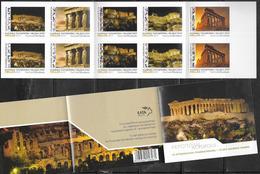 GREECE, 2019, MNH, TOURISM ,ATHENS, PARTHENON BY NIGHT , ARCHAEOLOGY,ACROPOLIS, PERSONLAIZED   BOOKLET - Archaeology