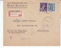Enveloppe   Léopold III Timbre N°693 - 1936-1957 Open Collar